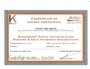 יוסף אבו מוך-קיניזיוטייפ בסיסי לטיפול בילדים ומבוגרים KT1+KT2